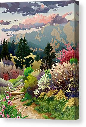 Pathway Digital Art Canvas Prints