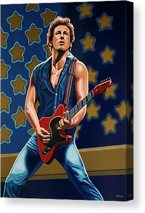 Bruce Springsteen Art Canvas Prints