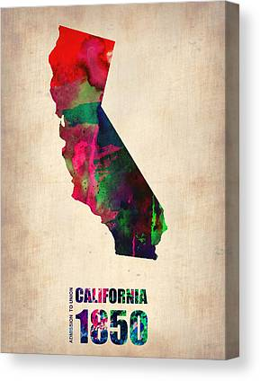 California State Map Canvas Prints