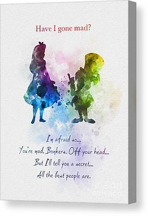 Mad Hatter Mixed Media Canvas Prints