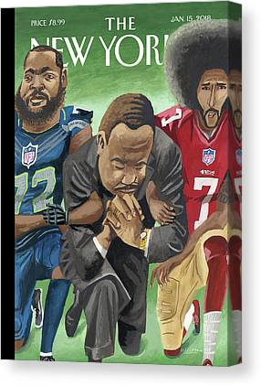 Take A Knee Canvas Prints