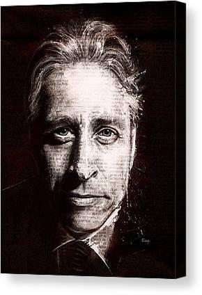 Jon Stewart Canvas Prints