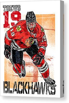 Skating Mixed Media Canvas Prints