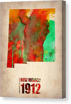 New Mexico Map Canvas Prints