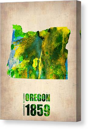 Oregon State Digital Art Canvas Prints