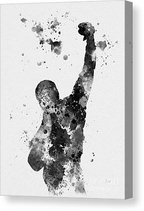 Boxer Mixed Media Canvas Prints