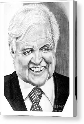 Senator Kennedy Drawings Canvas Prints