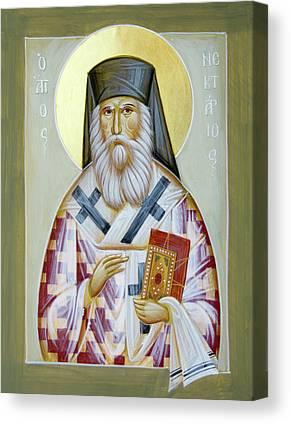 St Nektarios Of Aigina Canvas Prints