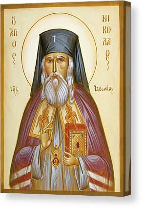 St Nicholas Of Japan Canvas Prints