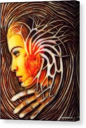 A Hand Mirror Digital Art Canvas Prints