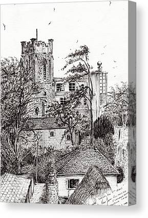 Catherine White Drawings Canvas Prints