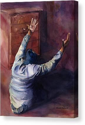 Prayer Paintings Canvas Prints