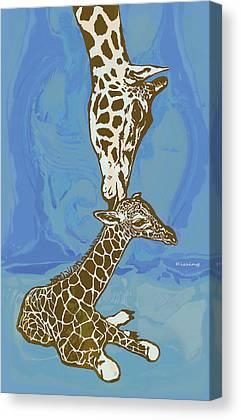 Giraffe Abstract Canvas Prints