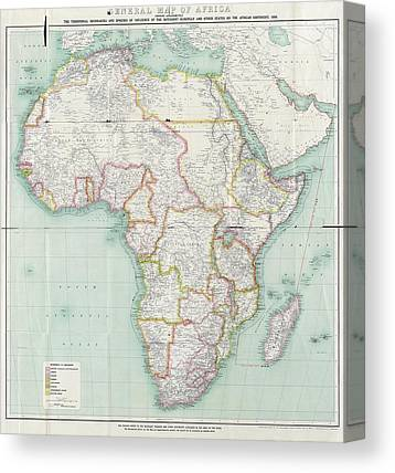 Map Of Africa Photographs Canvas Prints