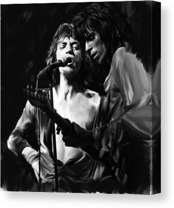 The Glimmer Twins Jagger And Richards Canvas Prints