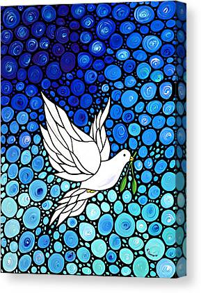 White Dove Canvas Prints