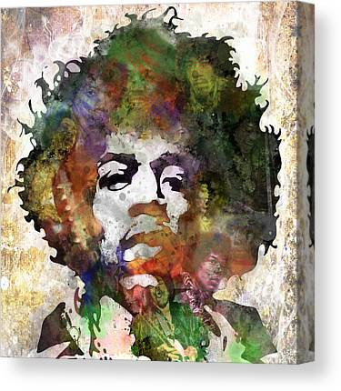Rock And Roll Jimi Hendrix Canvas Prints