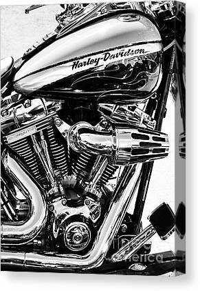 Harley Davidson Black And White Canvas Prints