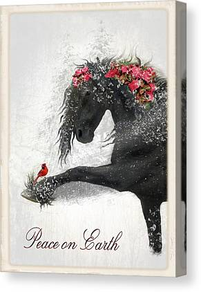 Christmas Card Digital Art Canvas Prints