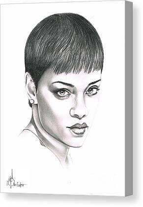 Rihanna Drawing Canvas Prints