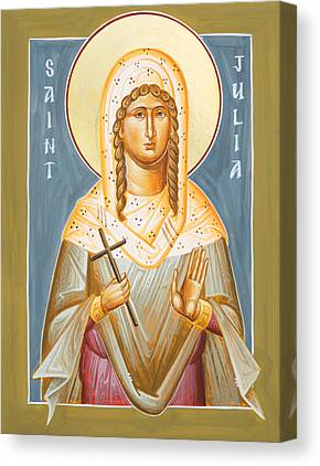 St Julia Of Carthage Icon Canvas Prints