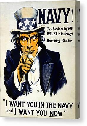 Navy Drawings Canvas Prints