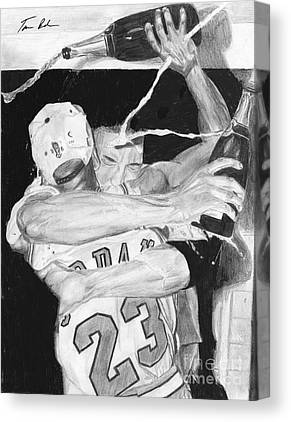 Pippen Drawings Canvas Prints