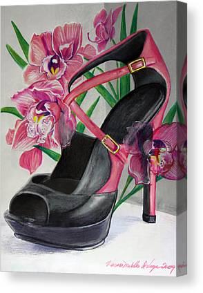 Fuschia Mixed Media Canvas Prints