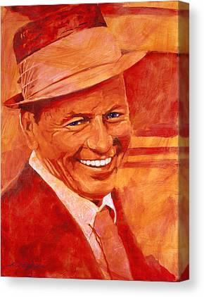 Frank Sinatra Paintings Canvas Prints