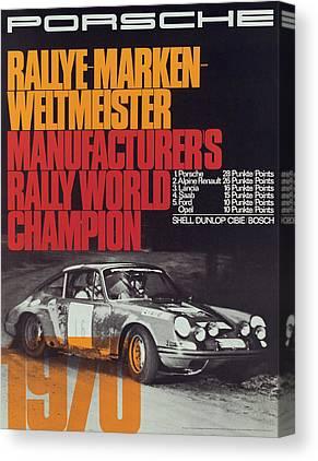 World Rally Championship Canvas Prints