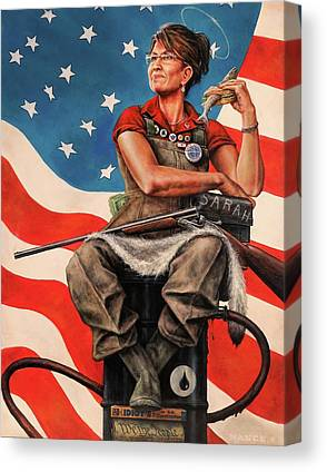 Sarah Palin Canvas Prints
