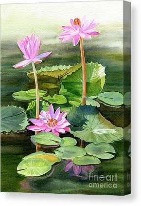 Yellow Pond Lily Canvas Prints