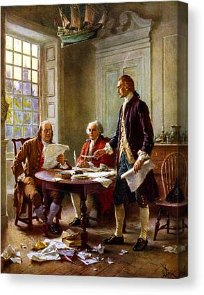 Declaration Of Independence Canvas Prints
