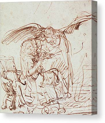 Annunciation Drawings Canvas Prints