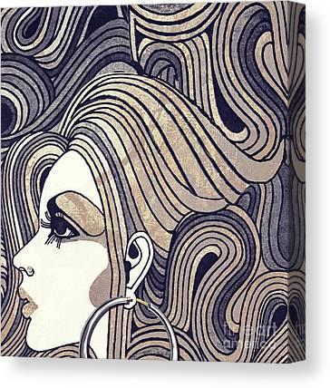 Silver Earrings Canvas Prints
