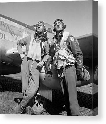 World War 2 Airmen Canvas Prints