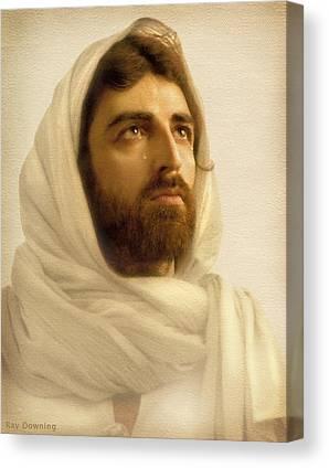 Jesus Christ Digital Art Canvas Prints