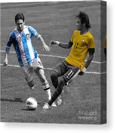 Neymar Junior Canvas Prints