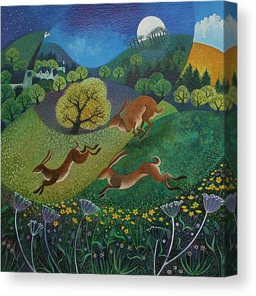 March Hare Canvas Prints