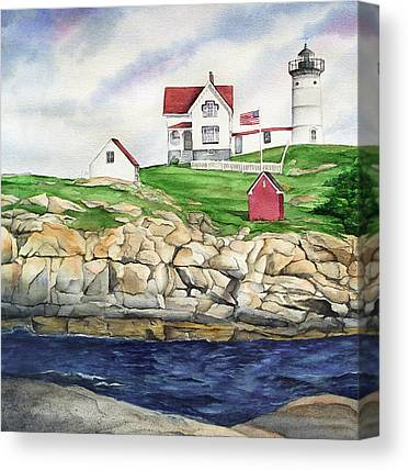 Cape Neddick Lighthouse Paintings Canvas Prints