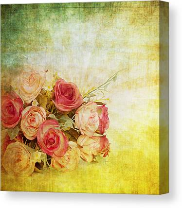 Abstract Rose Canvas Prints