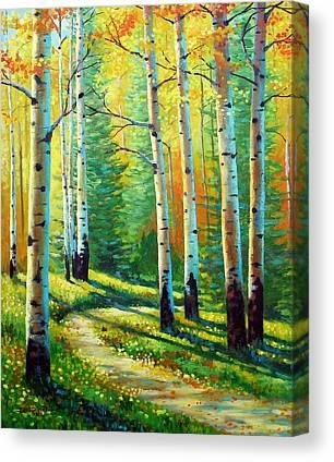 Trail Paintings Canvas Prints