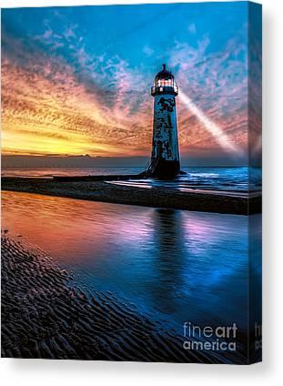 Lighthouse Digital Art Canvas Prints