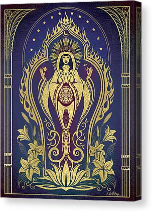 Hindu Goddess Digital Art Canvas Prints