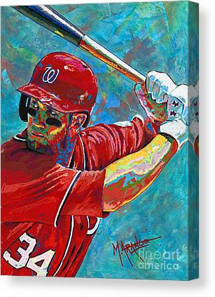 Right Fielder Paintings Canvas Prints