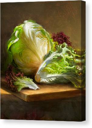 Lettuce Canvas Prints