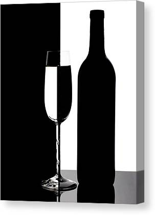 White Wine Photographs Canvas Prints