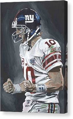 Eli Manning New York Giants Super Bowl Mvp Quarterback Nfl David Courson Canvas Prints