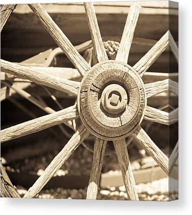 Wagon Wheel Hub Canvas Prints