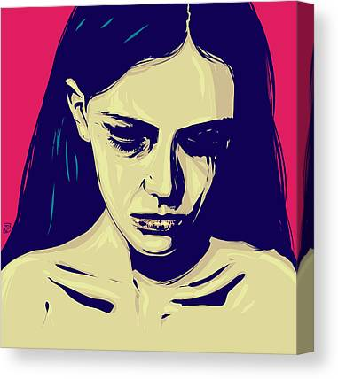 Sadness Drawings Canvas Prints
